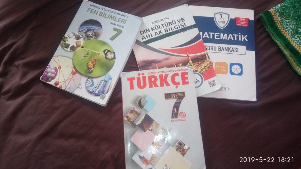 учебники 7 кл в государственных школах Турции