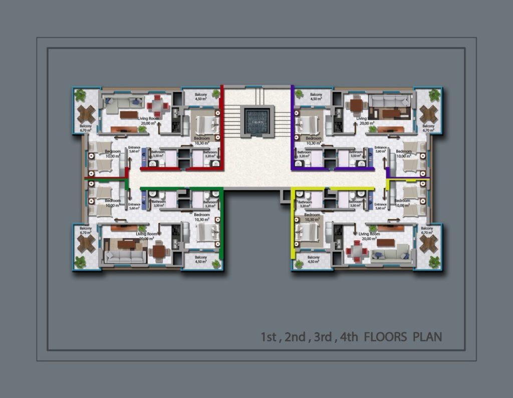 средние этажи