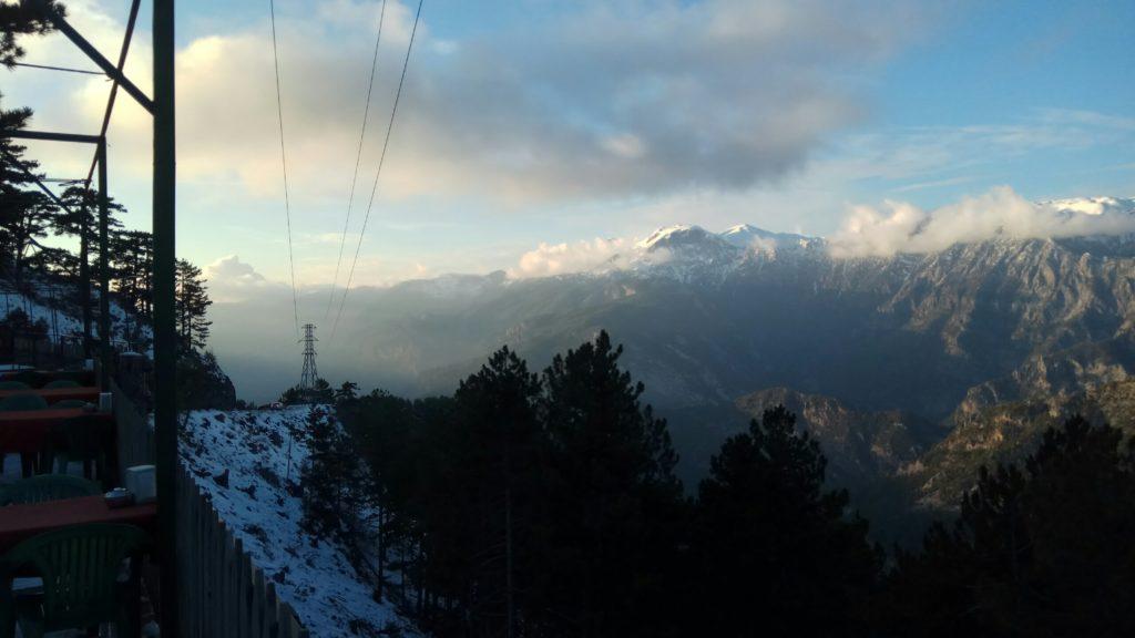 торосские горы зимой